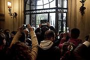 Riprese durante l'uscita da villa Madama del Presidente degli Stati Uniti d'America, Barack Obama, dopo l'incontro con il Presidente del Consiglio Matteo Renzi. Roma, 27 Marzo, 2014.<br /> Christian Mantuano / OneShot