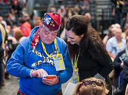 Pictured: delegate chats with Tasmania Ahmed-Sheikh MP<br /> <br /> The first day of the SNP autumn conference at the SEC in glasgow.<br /> <br /> © Dave Johnston / EEm