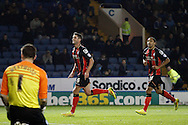 Andrew Surman celebrates during the Sky Bet Championship match between Sheffield Wednesday and Bournemouth at Hillsborough, Sheffield, England on 4 November 2014.