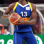 Lotos Gdynia's Aneika HENRY during their woman Euroleague group A matchday 5 Galatasaray between Lotos Gdynia at the Abdi Ipekci Arena in Istanbul at Turkey on Wednesday, November 09 2011. Photo by TURKPIX