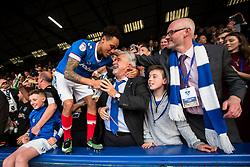 Kyle Bennett of Portsmouth hugs Portsmouth Chairman Iain McInnes - Mandatory by-line: Jason Brown/JMP - 06/05/2017 - FOOTBALL - Fratton Park - Portsmouth, England - Portsmouth v Cheltenham Town - Sky Bet League Two