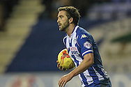 Will Grigg (Wigan) scores but doesn't celebrate during the Sky Bet League 1 match between Wigan Athletic and Gillingham at the DW Stadium, Wigan, England on 7 January 2016. Photo by Mark P Doherty.