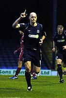 Photo: Olly Greenwood/Sportsbeat Images.<br /> Southend United v Swindon Town. Coca Cola League 1. 08/12/2007. Southend's Adam Barrett celebrates scoring