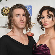 Dave Yaden and Irina Dedyuk attend the Grand Final MISS USSR UK 2019 at ton On Park Lane on 27 April 2019, London, UK.