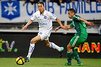 FOOTBALL - FRENCH CHAMPIONSHIP 2010/2011 - L1 - AJ AUXERRE v AS SAINT ETIENNE - 9/04/2011 - PHOTO GUY JEFFROY / DPPI - KAMEL CHAFNI (AUX)