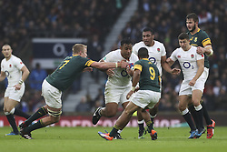 November 12, 2016 - London, England, United Kingdom - Billy Vunipola of England charges at the South African defence during Old Mutual Wealth Series between England  and South Africa played at Twickenham Stadium, London, November 12th  2016  (Credit Image: © Kieran Galvin/NurPhoto via ZUMA Press)