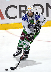 Nik Zupancic of Olimpija at 2nd final match of Slovenian National Championships  between HK Acroni Jesenice and HDD Tilia Olimpija, on March 17, 2009, in Podmezaklja, Jesenice, Slovenia. Acroni Jesenice won after free shots 2:1 and are leading 2:0. They need to win 2-times more. (Photo by Vid Ponikvar / Sportida)