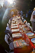 "At a private home in Truckee (Lake Tahoe) CA, for a fundraiser dinner for the Squaw Valley Institute: A Farm to Table Dinner with Peter Menzel & Faith D'Aluisio and a group of premier local chefs, including Elsa Corrigan from Mamasake, Chef Ben ""Wyatt"" Dufresne from PlumpJack Cafe, Chad Shrewsbury from Six Peaks Grille, Douglas Dale of Wolfdale's, Santa Cruz Mountain Brewing Company, Farrier Wines and Donum Estate wines for a spectacular dining event that pays homage to our homegrown businesses, farmers and food leaders, while giving us ""food for thought"" about our own daily diets through the perspective of those around the world."