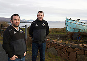 10/01/2018 Eamonn O Cualáin and Michael Coyne   in Cill Chiarain Co. Galway which has been depleted of population .<br />   .Photo:Andrew Downes, XPOSURE