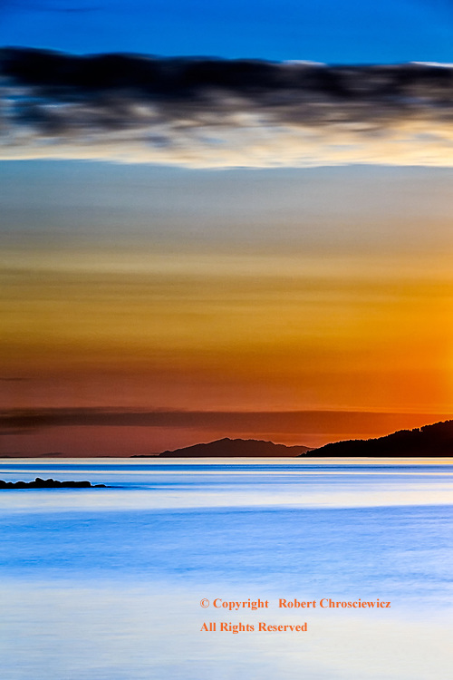 Evening, Spanish Banks: A dynamic sunset, looking out from the Spanish Banks, Vancouver British Columbia Canada.