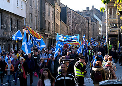 All Under One Banner Independence March, Edinburgh, Saturday 6th October 2018<br /> <br /> Pictured: People from all over Scotland attended the march<br /> <br /> Alex Todd | Edinburgh Elite media