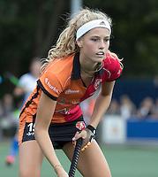 UTRECHT - HOCKEY - Yibbi Jansen (Oranje-Rood) tijdens    de hoofdklasse hockeywedstrijd dames Kampong-Oranje-Rood (0-5) .COPYRIGHT KOEN SUYK