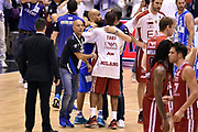 DESCRIZIONE : Milano Lega A 2014-15 EA7 Emporio Armani Milano vs Banco di Sardegna Sassari playoff Semifinale gara 7 <br /> GIOCATORE : David Logan Federico Pasquini Jonathan Tabu<br /> CATEGORIA : fairplay postgame<br /> SQUADRA : Banco di Sardegna Sassari EA7 Emporio Armani Milano<br /> EVENTO : PlayOff Semifinale gara 7<br /> GARA : EA7 Emporio Armani Milano vs Banco di Sardegna SassariPlayOff Semifinale Gara 7<br /> DATA : 10/06/2015 <br /> SPORT : Pallacanestro <br /> AUTORE : Agenzia Ciamillo-Castoria/GiulioCiamillo<br /> Galleria : Lega Basket A 2014-2015 Fotonotizia : Milano Lega A 2014-15 EA7 Emporio Armani Milano vs Banco di Sardegna Sassari playoff Semifinale  gara 7 Predefinita :