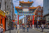 UK, London, China Town, arch, tourism, tourists, travel, holidays, June, 2018, 201806234441<br /><br />Copyright Image from Victor Patterson, 54 Dorchester Park, <br />Belfast, UK, BT9 6RJ<br /><br />t1: +44 28 9066 1296 (from Rep of Ireland 048 9066 1296)<br />t2: +44 28 9002 2446 (from Rep of Ireland 048 9002 2446)<br />m: +44 7802 353836<br /><br />victorpatterson@me.com<br />victorpattersonbelfast@gmail.com<br /><br />Please see my Terms and Conditions of Use at victorpatterson.com. It is IMPORTANT that you familiarise yourself with them.<br /><br />Images used on the Internet incur an additional cost and must be visibly watermarked i.e. ©Victor Patterson within the body of the image and copyright metadata must not be deleted. Images used on the Internet have a size restriction of 4kbs and are chargeable at rates available at victorpatterson.com.<br /><br />This image is available only for the use of the download recipient i.e. television station, newspaper, magazine, book publisher, etc, and must not be passed on to any third party. It is also downloaded on condition that each and every usage is notified within 7 days to victorpatterson@me.com<br /><br />The right of Victor Patterson (or the named photographer) to be identified as the author is asserted in accordance with The Copyright Designs And Patents Act (1988). All moral rights are asserted.