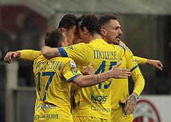 March 18, 2018 - Milan, Italy - Chievo team during Serie A match between Milan v Chievo Verona, in Milan, on March 18, 2018  (Credit Image: © Loris Roselli/NurPhoto via ZUMA Press)