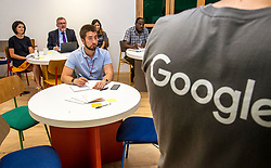 Pictured: David Mundell<br /> Scottish Secretary David Mundell visited a 'digital garage' in Edinburgh which trains people in digital skills. The Google Digital Garage, in Shandwick Place is a social responsibility outlet for the corporate giant<br /> <br /> <br /> Ger Harley | EEm Date