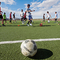 081513       Cable Hoover<br /> <br /> The Rehoboth Lynx boys soccer team runs passing drills during practice at Rehoboth High School Thursday.