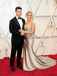 Colin Jost, Scarlett Johansson at the 92nd Academy Awards held at the Dolby Theatre in Hollywood, USA on February 9, 2020.