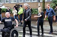 Duke of Sussex meets Jon Bon Jovi at Abbey Road Studios, Jon Bon Jovi recorded a special single in aid of the Invictus Games Foundation. Abbey Road. London. 28.02.20