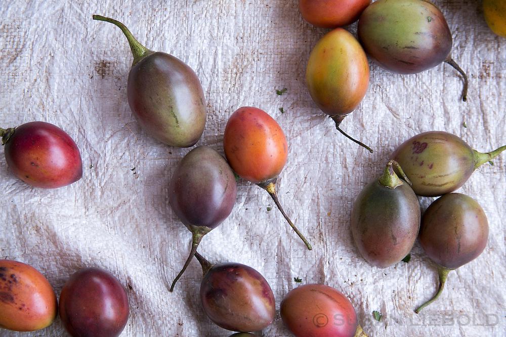 Tree tomatoes on a table in Rwanda.