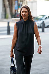 © Licensed to London News Pictures. 10/07/2017. London, UK. Anti-Brexit campaigner GINA MILLER arrives at Westminster Magistrates Court in London on Monday, 10 July 2017 as Rhodri Philipps, the 4th Viscount St Davids is accused of writing a threatening message about Gina Miller just four days after she won a High Court appeal against the Government over Brexit in November 2016. Photo credit: Tolga Akmen/LNP