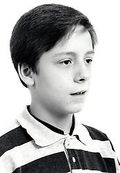 Studio portrait of boy UK 1990s