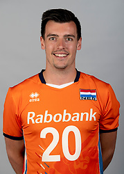 14-05-2018 NED: Team shoot Dutch volleyball team men, Arnhem<br /> Stijn Held #20 of Netherlands