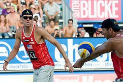 Jake Gibb and Sean Rosenthal of USA at A1 Beach Volleyball Grand Slam tournament of Swatch FIVB World Tour 2010, on July 31, 2010 in Klagenfurt, Austria. (Photo by Matic Klansek Velej / Sportida)