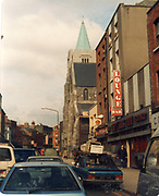 Old amateur photos of Dublin streets churches, cars, lanes, roads, shops schools, hospitals, Streetscape views are hard to come by while the quality is not always the best in this collection they do capture Dublin streets not often available and have seen a lot of change since photos were taken Meath Street, James Hospital, Jervis Hosp. James St Post Office, Findlater Church March 1987