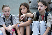 Girls at the Israeli Scouts Youth Movement <br /> The Israeli Scouts were founded in 1919 The Israeli Scouts are divided into troops, which include about 40,000 members across religions and sexes. Unlike other countries boys and girls are in the same groups