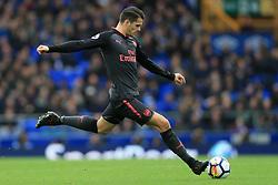 22nd October 2017 - Premier League - Everton v Arsenal - Granit Xhaka of Arsenal shoots - Photo: Simon Stacpoole / Offside.