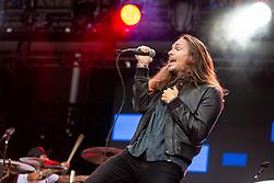 May 25, 2018 - Napa, California, U.S - BRANDON BOYD of Incubus during BottleRock Music Festival at Napa Valley Expo in Napa, California (Credit Image: © Daniel DeSlover via ZUMA Wire)