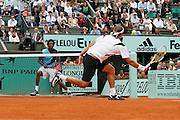 Roland Garros. Paris, France. June 1st 2007..3rd Round..David NALBANDIAN against Gael MONFILS.