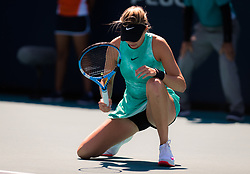 March 22, 2019 - Miami, FLORIDA, USA - Amanda Anisimova of the United States in action during the second-round at the 2019 Miami Open WTA Premier Mandatory tennis tournament (Credit Image: © AFP7 via ZUMA Wire)