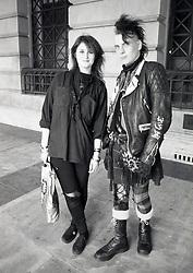 Punk/emo couple, Nottingham, UK 1989