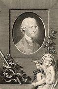 John Coakley Lettsom (1744-1815) English Quaker born in the West Indies who became and eminent London physician.  Engraving from the 'European Magazine' (London, 1767).