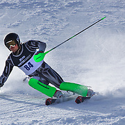Tim Cafe, New Zealand, in action during the Men's Slalom event during the Winter Games at Cardrona, Wanaka, New Zealand, 24th August 2011. Photo Tim Clayton...