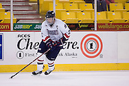 October 13, 2007 - Anchorage, Alaska: Chris Kaufman (2) of the Robert Morris Colonials during the 4-1 win over Wayne State  in the 3rd game of the Nye Frontier Classic at the Sullivan Arena.  RMU would go on to be the Classic Champions after host Alaska-Anchorage tied with Boston University in the 4th game of the Classic.