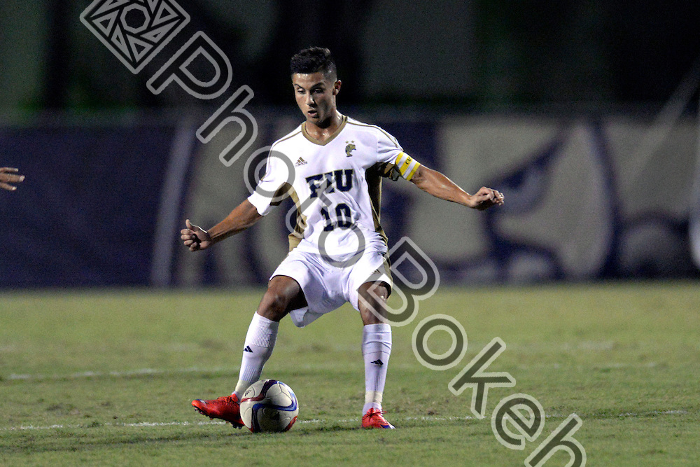 2015 September 12 - FIU's Daniel Gonzalez (10). <br /> Florida International University defeated Princeton, 2-1, at the FIU Soccer Complex, Miami, Florida.  (Photo by: Alex J. Hernandez / photobokeh.com) This image is copyright by PhotoBokeh.com and may not be reproduced or retransmitted without express written consent of PhotoBokeh.com. ©2015 PhotoBokeh.com - All Rights Reserved