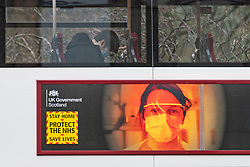 Edinburgh, Scotland, UK. 31 February 2021. Coronavirus health warnings.on billboards in Edinburgh City Centre.  Iain Masterton/Alamy Live News