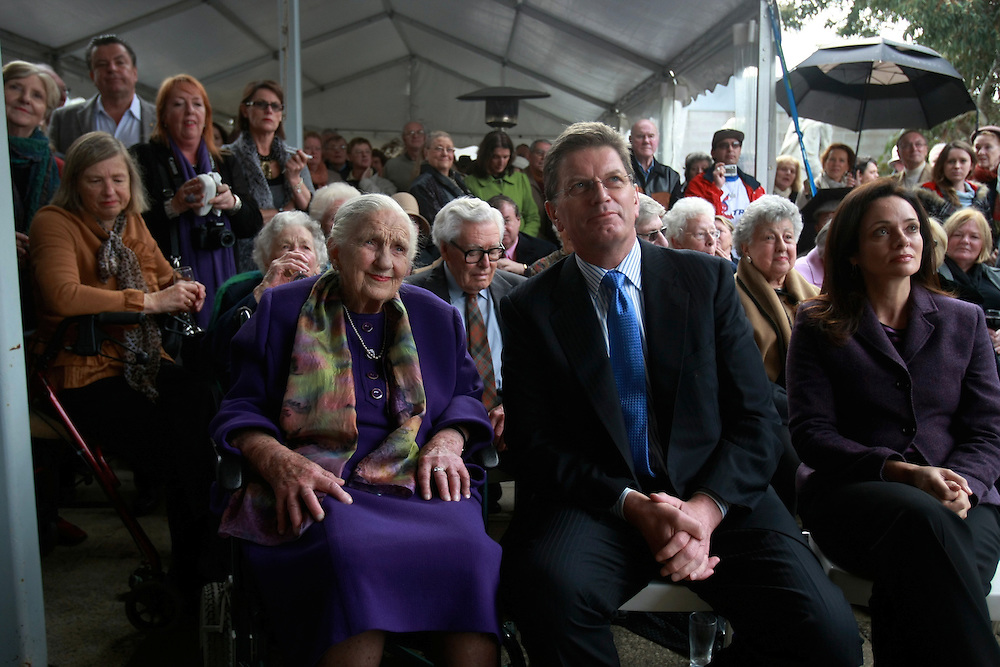 Fwd: Dame Elizabeth Murdoch and premier Ted Baillieu openning the.Elizabeth Murdoch walk. Pic by Craig Sillitoe. 18/6/2011 melbourne photographers, commercial photographers, industrial photographers, corporate photographer, architectural photographers, This photograph can be used for non commercial uses with attribution. Credit: Craig Sillitoe Photography / http://www.csillitoe.com<br /> <br /> It is protected under the Creative Commons Attribution-NonCommercial-ShareAlike 4.0 International License. To view a copy of this license, visit http://creativecommons.org/licenses/by-nc-sa/4.0/.