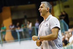 Igor Kokoskov head coach of Slovenia during friendly basketball match between National teams of Slovenia and Hungary on day 1 of Adecco Cup 2017, on August 4th in Arena Tabor, Maribor, Slovenia. Photo by Grega Valancic/ Sportida
