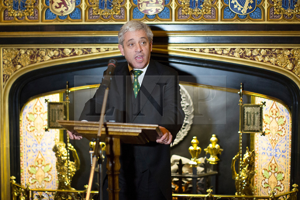 © licensed to London News Pictures. London, UK 23/10/2013. John Bercow<br /> Speaker of the House of Commons at The Pink News Awards to congratulate LGBT campaigners at Speakers House, Palace of Westminster, London on Wednesday, 23 October 2013. Photo credit: Tolga Akmen/LNP