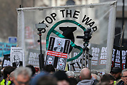 February 22, 2020, London, England, United Kingdom: Demonstrators gather to protest against the extradition of Wikileaks founder Julian Assange, in London, Saturday, Feb. 22, 2020. Assange is fighting extradition to the United States on spying charges. (Credit Image: © Vedat Xhymshiti/ZUMA Wire)