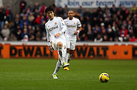 Wednesday 09 February 2013..Pictured: Ki Sung-Yueng of Swansea City...Re: Barclay's Premier League, Swansea City FC v Queen's Park Rangers at the Liberty Stadium, south Wales.