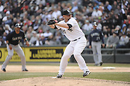 CHICAGO - APRIL 06:  Jesse Crain #26 of the Chicago White Sox pitches against the Seattle Mariners on April 06, 2013 at U.S. Cellular Field in Chicago, Illinois.  The White Sox defeated the Mariners 4-3.  (Photo by Ron Vesely)   Subject:  Jesse Crain