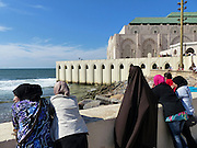 Rabat, Morocco, City wall with the ocean