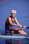 Olympics 2000 - Penrith Lakes, NSW. Australia...USA W2- Bronze Medalist Melissa (Missy) Ryan.[Mandatory Credit Peter Spurrier Intersport Images] 2000 Olympic Regatta Sydney International Regatta Centre (SIRC) 2000 Olympic Rowing Regatta00085138.tif