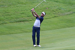 June 24, 2018 - Cromwell, Connecticut, United States - Bubba Watson hits a fairway shot on the 18th hole during the final round of the Travelers Championship at TPC River Highlands. (Credit Image: © Debby Wong via ZUMA Wire)