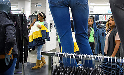 September 6, 2017 - Minneapolis, Minnesota, USA - Workers did final stocking in the women's clothing section of the new Nordstrom Rack opening Thursday in the IDS Center.     ] GLEN STUBBE Â¥ glen.stubbe@startribune.com Wednesday September 6, 2017 Nordstrom Rack opens in the IDS Center on Thursday, the 5th Rack outlet in the Twin Cities.   ..What's Happening at this time:  Ewoldt will get a tour on Wed., but the store does not open until Thursday. The store is mostly ready. There may be people just straightening aisles. One interesting note is the escalator which will tie together the former Gap space with the former TJ Maxx space not utilized for 13 years. (Credit Image: © Glen Stubbe/Minneapolis Star Tribune via ZUMA Wire)